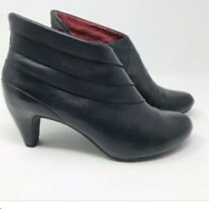 Tsubo Booties Black Cusus Leather Boots 8.5 NWOT